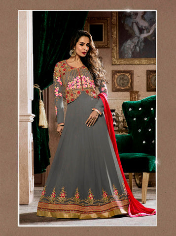 Ladyindia Sale Party Wear Anarkali Suits Floor Lenght Salwar Suit With Floral Embroidery For Women