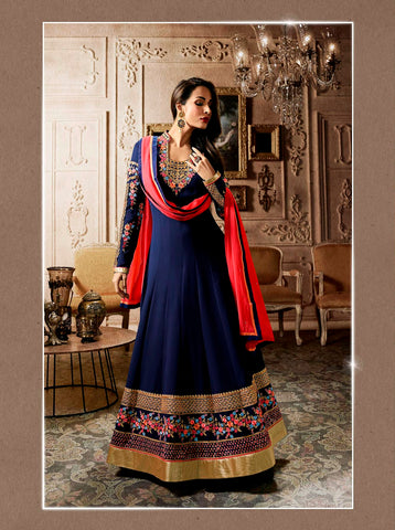 Ladyindia Festive Offers Malaika Arora's Koti Style Anarkali Suits Heavy Embroidered Designer Salwar Suit