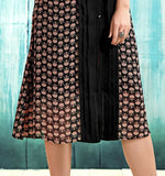Beautiful Black Festival Kurtis Round Neck Style Printed Kurtis & Kurtas For Girl