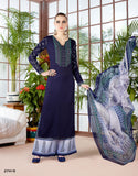 Designer Navy Blue Color Long Kurti With Palazzo Partywear Palazzo Suits For Girl