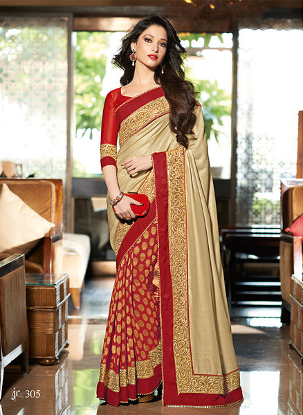 Designer-Half-&-Half-Designer-Latest-Fashion-Saree-lady-054-Women-Sarees