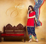 Patiala Salwar Kameez Dark Pink New Patiyala Dress Lawn Printed With Lace Border