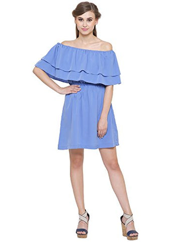 navy-blue-off-shoulder-dress-ruffle-style-online-skater-dresses