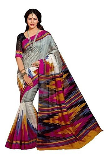 Multicolor Pure Cotton Bhagalpuri Printed Saree