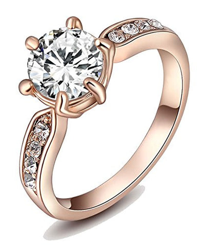 Jewelry 18k Rose Gold Plated Ring For Women