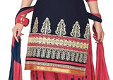 New Fashion Trend Designer Printed Unstitched Regular Wear Punjabi Suits Reshem Work Suit