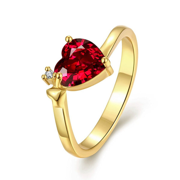 Designer Jewellery 'Queen Heart' Red Austrian Crystal Ring For Women