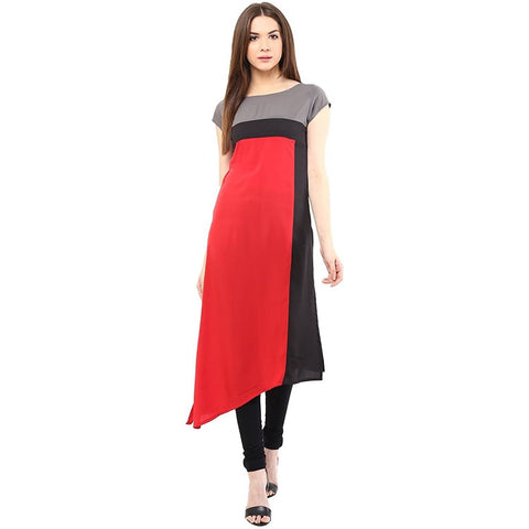 Latest Designer Women's Crepe Kurti