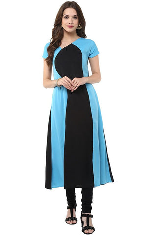 Latest Women's Multi-Color Indo Western Crepe Kurti