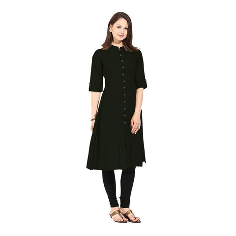 anarkali-kurtis-black-color-plain-cotton-anarkali-kurtis-a029