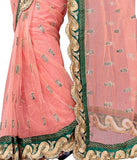 Net Saree Designed With Resham Butti & Border Work Designer Net Sarees