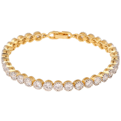 Designer American Diamond Cz Gold Plated Fashion Jewellery Traditional Bracelet For Women