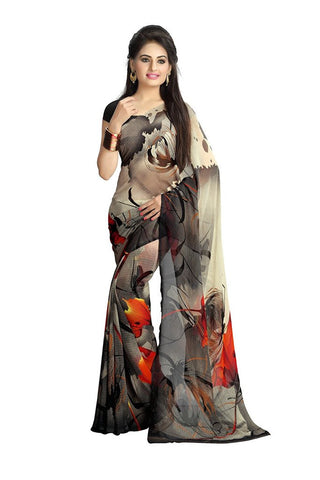 Latest Women's Faux Georgette Printed Saree