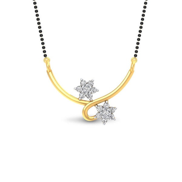 Designer Jewellery 18kt Yellow Gold And Diamond Mangalsutra For Women