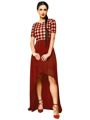 Latest Fancy Designer Red Color Kurtis