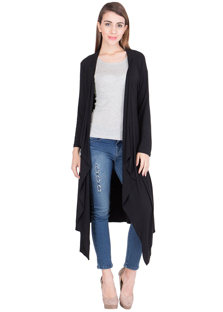 8e59a3b4426 Online shopping fancy long shrugs black cotton long shrug – Lady India