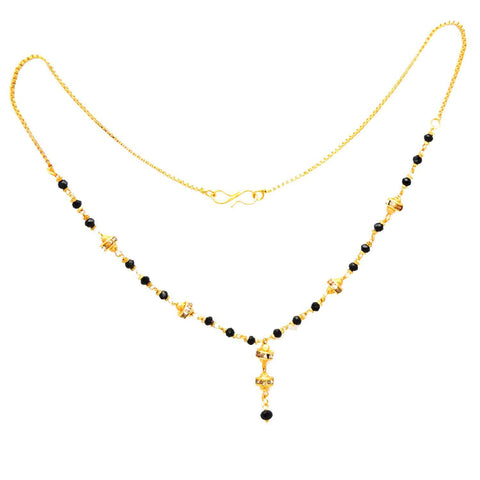 Designer Stylish & Trendy Beads Gold Plated Mangalsutra Necklace Chain For Women