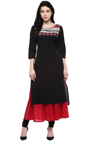 Designer Pantaloons Women's Cotton Flex Kurta