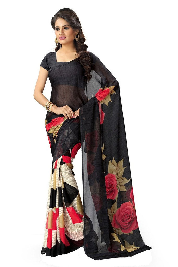 5c3554e55be Buy Online Georgette Saree for Ladies - Free Shipping in India – Lady India