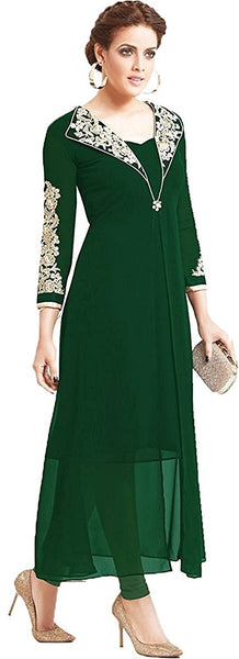 Designer Women's Georgette Green Kurta