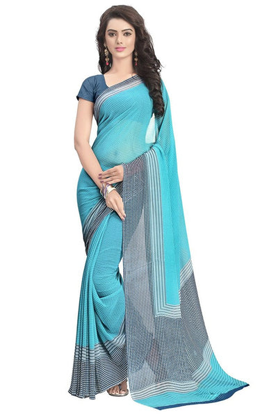 Fashionable Latest Designer Women's Chiffon Saree