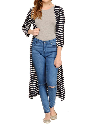 white-&-navy-shrug-striped-maxi-shrug-designer-cape