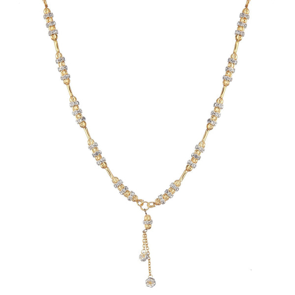 American Diamond Gold Plated Mangalsutra Pendant With Chain For Women