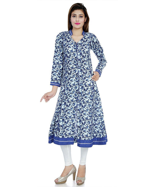 blue-&-white-color-cotton-front-open-printed-anarkali-kurtis-a040