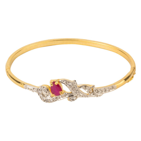 American Diamond Gold Plated Bangle Bracelet For Women And Girls