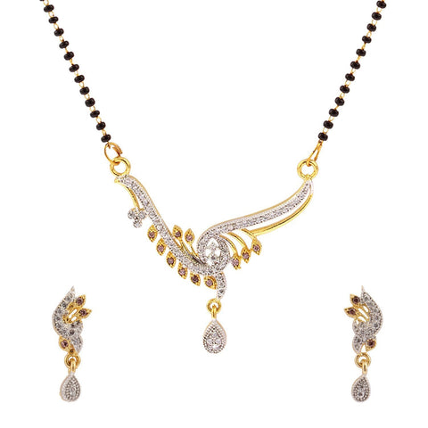 Designer Jewellery Gold Plated Gold & Silver Fashionable Mangalsutra For Women