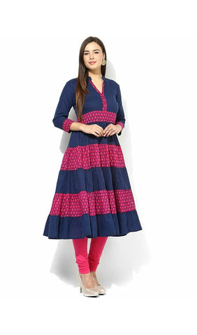 anarkali-kurtis-blue-&-pink-color-cotton-anarkali-kurta-a006