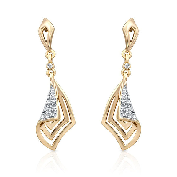 Designer Gold Plated Glam Crystal Dangle & Drop Earrings For Women