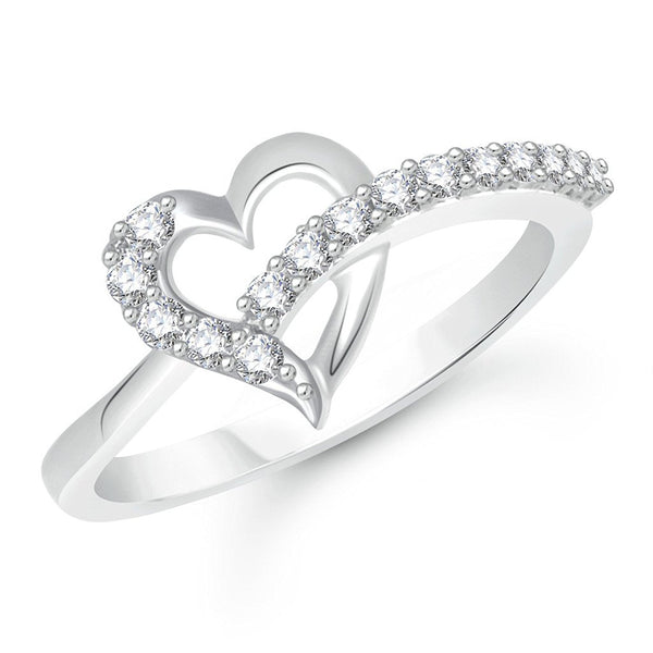 Designer Jewellery Rhodium Plated Alloy Ring For Women & Girls