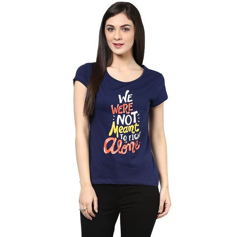 Online Girls s T Shirt Navy Blue Color Casual T-Shirt For Girls s Ladyindia9