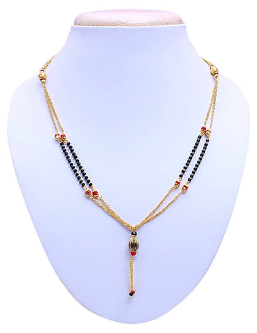 Designer American Diamond Gold Plated Mangalsutra Necklace For Women