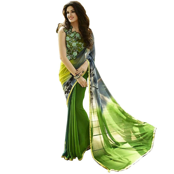 Latest Designer Store Women's Faux Georgette Saree