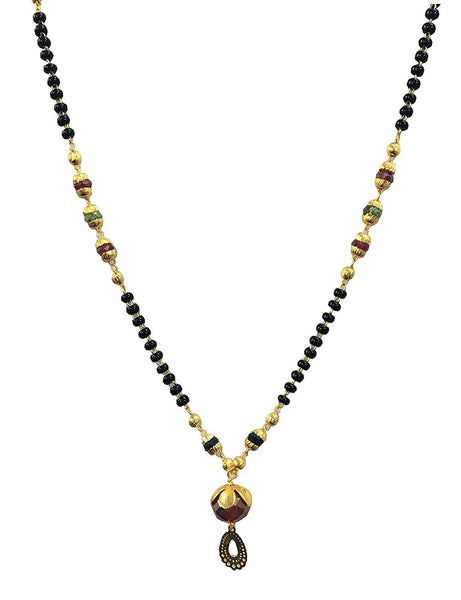 Latest Jewellery Traditional Gold Plated Mangalsutra Necklace Pendant With Chain For Women