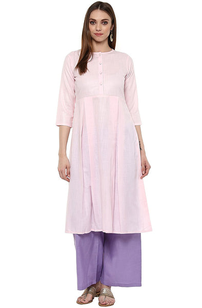 light-pink-plain-cotton-anarkali-kurta-for-women-a090