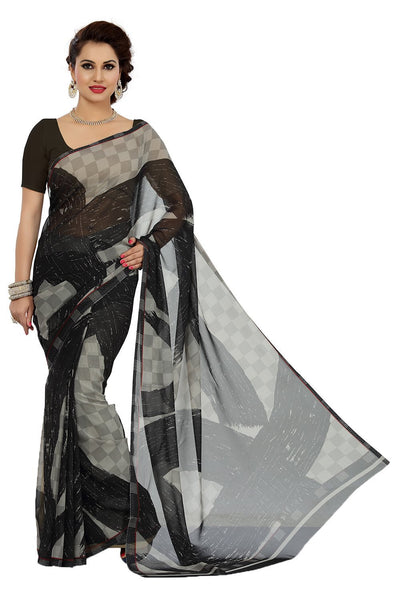 Faux Georgette Women's Saree - Designer Casual Sarees