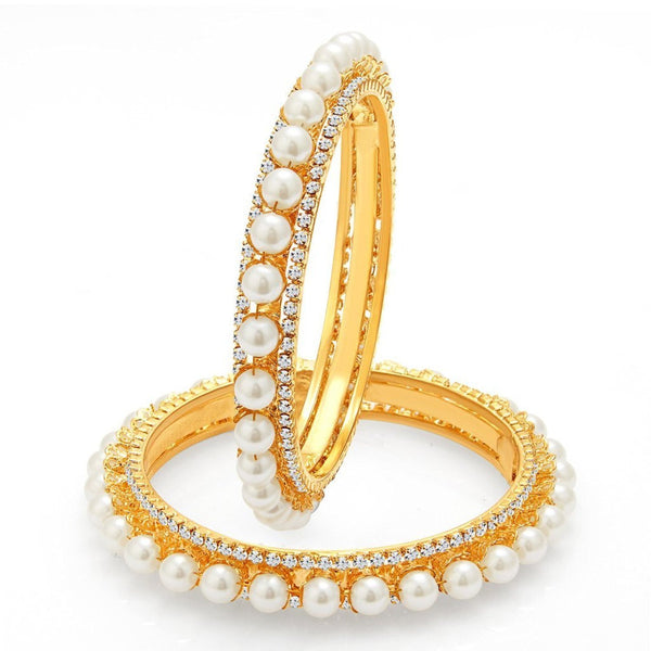 Latest Designer Traditional Jewellery Gold Plated Pearl Bracelets Bangles Jewellery For Women And Girls