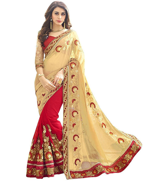 fs-20-diwali-offers-party-wear-women's-georgette-sarees-floral-embroidered-work-festival-sarees