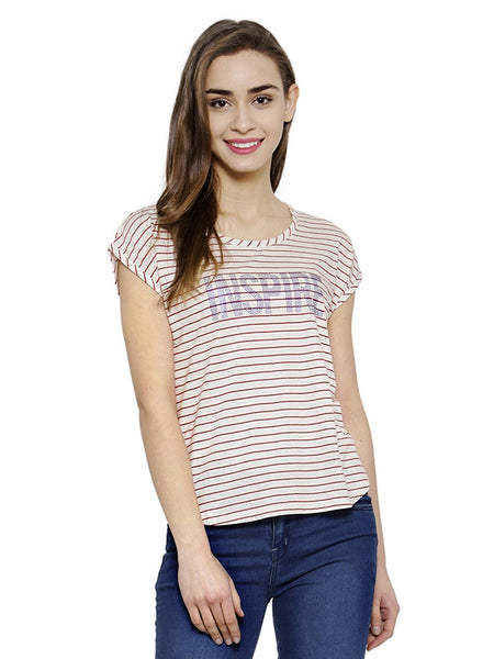 Striped Printed T-Shirts For Girls Ladyindia4