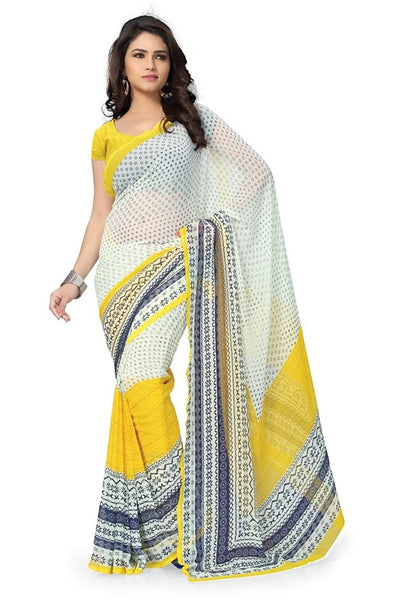 Designer Printed Georgette Sarees For Women S091
