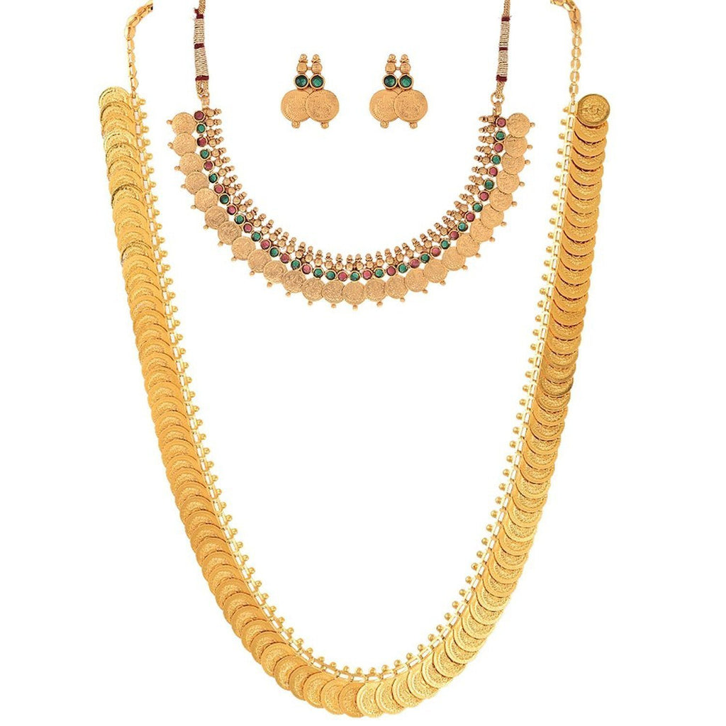 f2041aa0a38a3 Purchase online Maharani Coin Necklace set with Earrings at best Prices –  Lady India