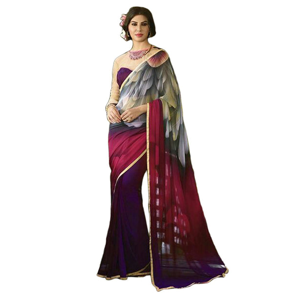Designer Fancy Store Women's Faux Georgette Saree