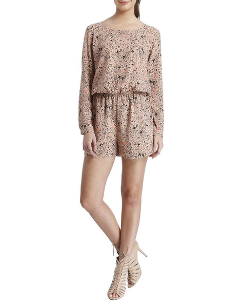 Latest Rompers Mahogany Rose Printed Romper