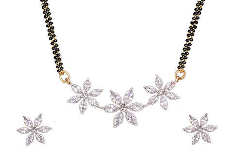 American Diamond, Cz, Mangalsutra Set/ Artificial Jewellery Set For Women
