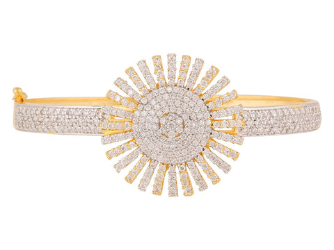 Designer American Diamond Cz Fashion Jewellery Traditional Ethnic Bracelet Kada For Women
