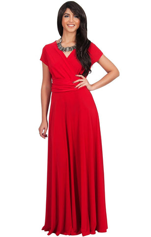 Latest Designer Full Length Hot Red Georgette And Crepe Evening Maxi dress For Women
