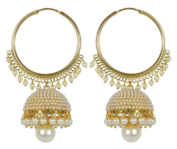 Gold Plated Big Jhumki Earrings For Women